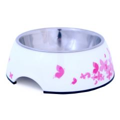 Dogman matskål melamin Rosa/Hvit