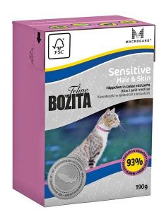 Bozita Feline Hair&Skin Sensitive 190gr