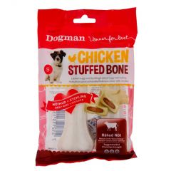 Dogman Chicken stuffed bone 2-p 12,5cm