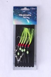 Hårekhekla grønn med 5 kroker