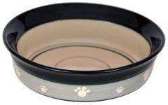 Keramikkskål grågrønn med poter