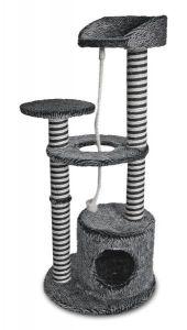 Kloremøbel melert/rillet svart/natur 112cm