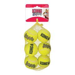 Kong Squeakair tennisball 6-pack med Ø 6cm