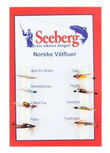 Norske Våtfluer Enkel 12 Assortiment