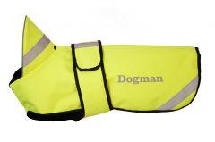 Dogman Refleksdekken til hund fòret Neongul
