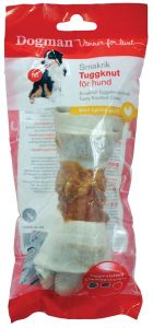 Tyggeknute med kylling  15cm Hvit