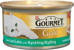 Purina Gourmet Lax & Kyckling bitar 85gr