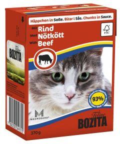 Bozita Biter i saus med oksekjøtt 370gr