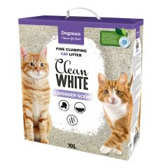 Dogman Kattsand Clean White 10L selges kun i butikken