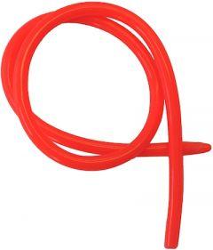 Gummislange Fluo Rød 80cm 3mm