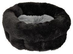 Seng Svart med grå dyne 38x35x20cm, S