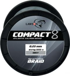 Lawson Compact 8 Atlantic Salmon Grey 3000 m