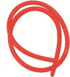 Gummislange Fluo Rød 80cm 2,5mm