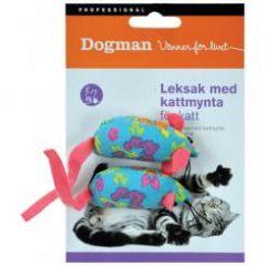 Katteleke Myk mus 2-pack Med kattemynte