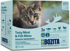 Bozita Multibox Kjøtt og fisk i saus