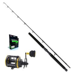 Prey jigger V2 6'8 15-40lb havfiskesett + Multisene