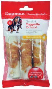 Tyggerull med kylling, 3-pack 10cm Hvit