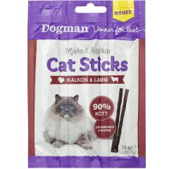 Dogman Cat sticks 3-pack Kalkun/Lam